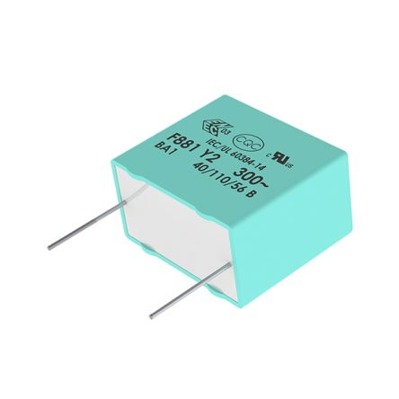 KEMET 1.5μF Polypropylene Capacitor PP 275 V ac, 560 V dc ±20% Tolerance Through Hole R46 Series (500)