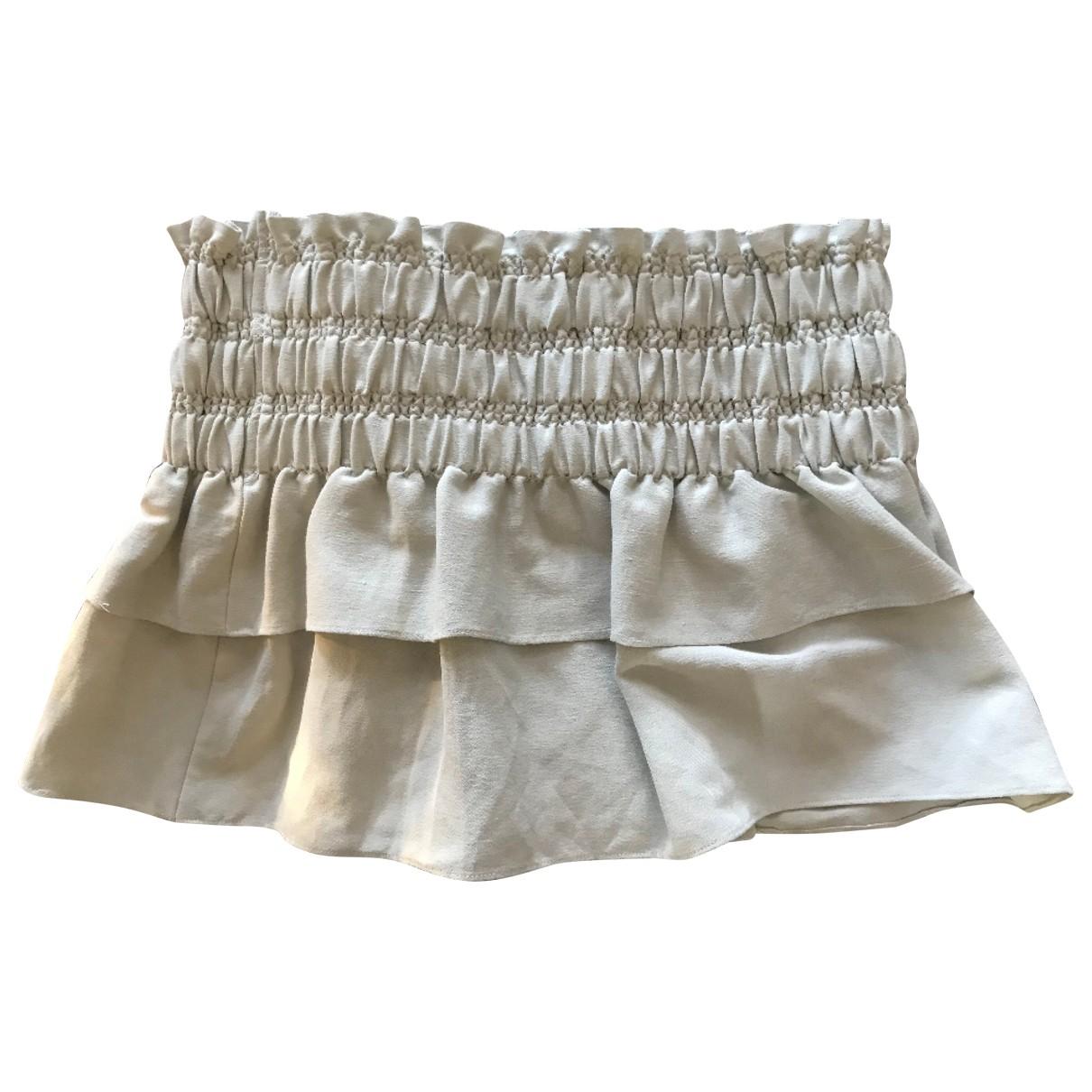 Isabel Marant Etoile \N Ecru Linen skirt for Women 38 FR