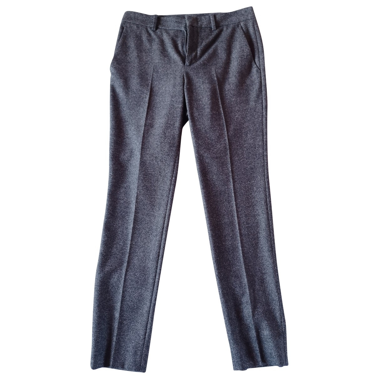 Gucci \N Anthracite Wool Trousers for Women 38 IT