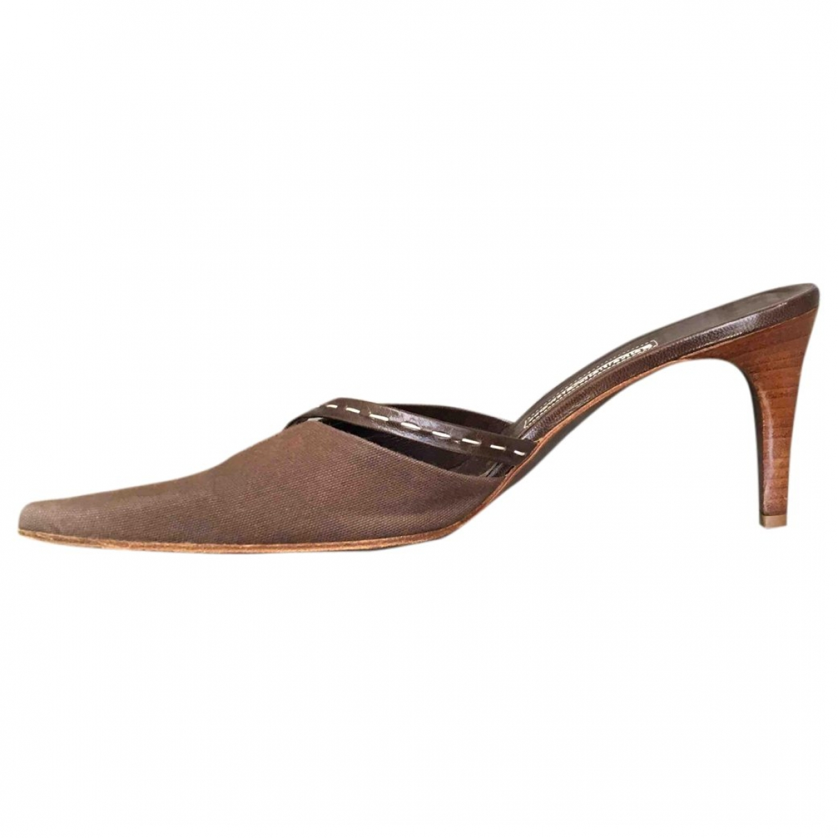 Georges Rech \N Brown Cloth Mules & Clogs for Women 38.5 EU