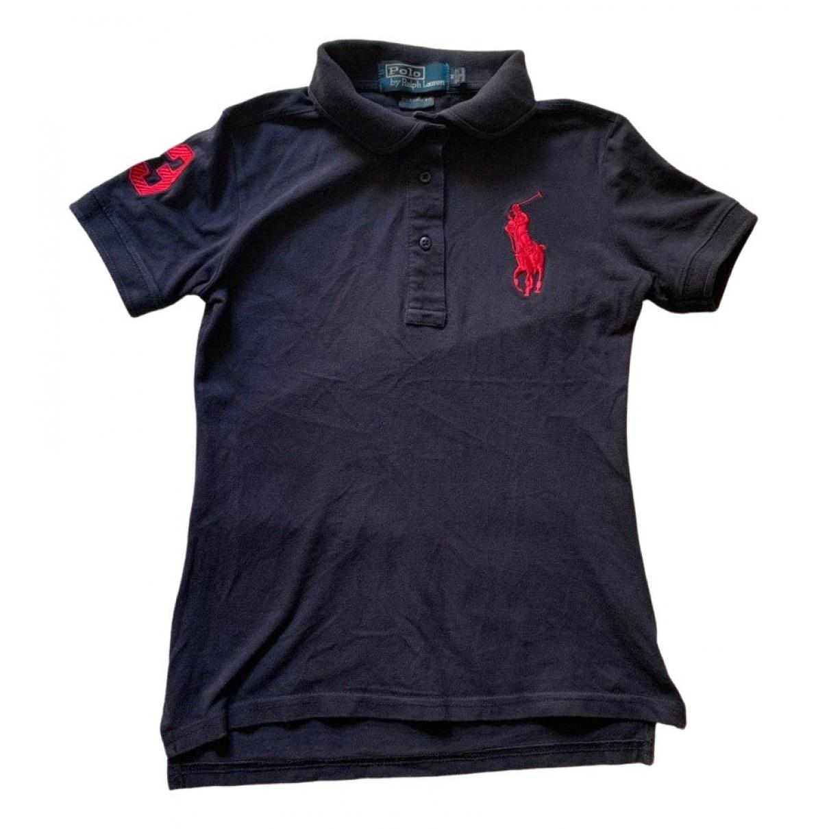 Polo Ralph Lauren Polo ajusté manches courtes Blue Cotton  top for Women M International