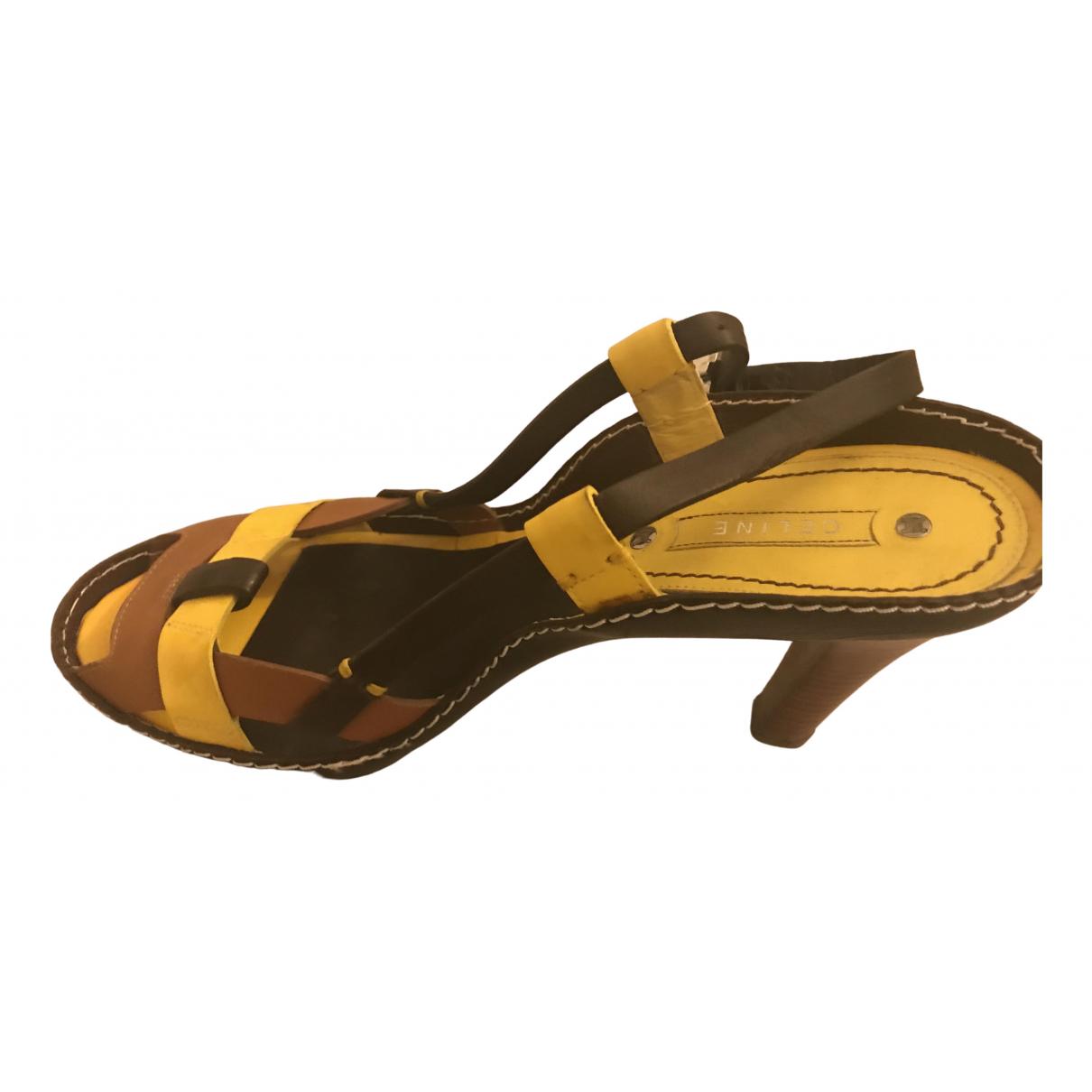 Celine \N Multicolour Leather Heels for Women 39 EU