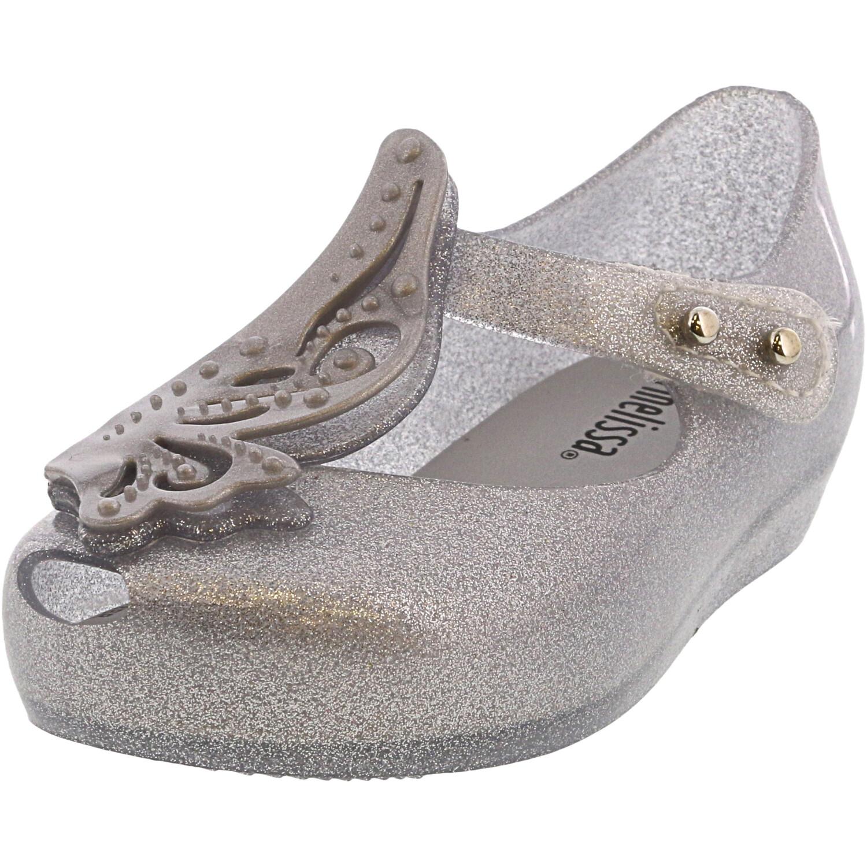 Melissa Girl's Ultragirl Fly Ii Silver Glitter Ankle-High Mary Jane - 6M