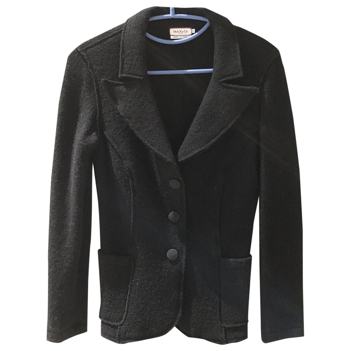 Max & Co \N Black Wool coat for Women S International