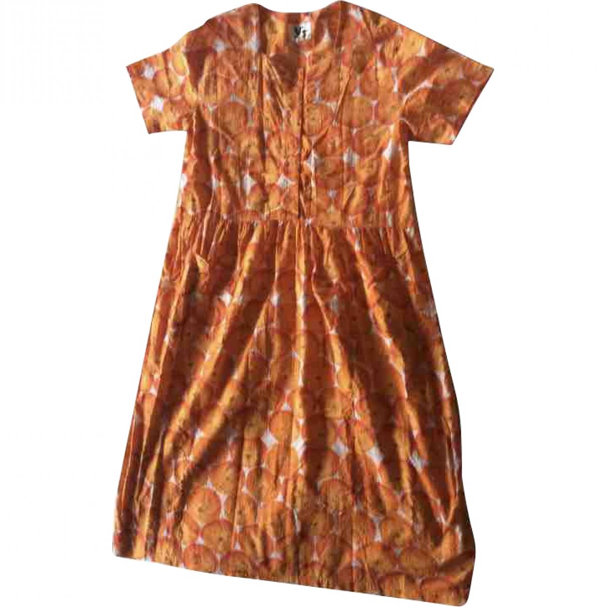 Yohji Yamamoto \N Orange Cotton dress for Women L International