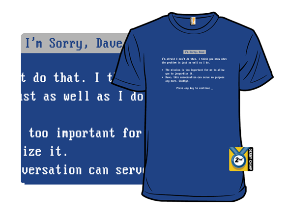 Blue Screen Of Hal T Shirt