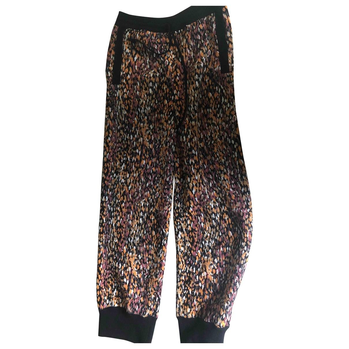 Missoni \N Multicolour Wool Trousers for Women 38 IT