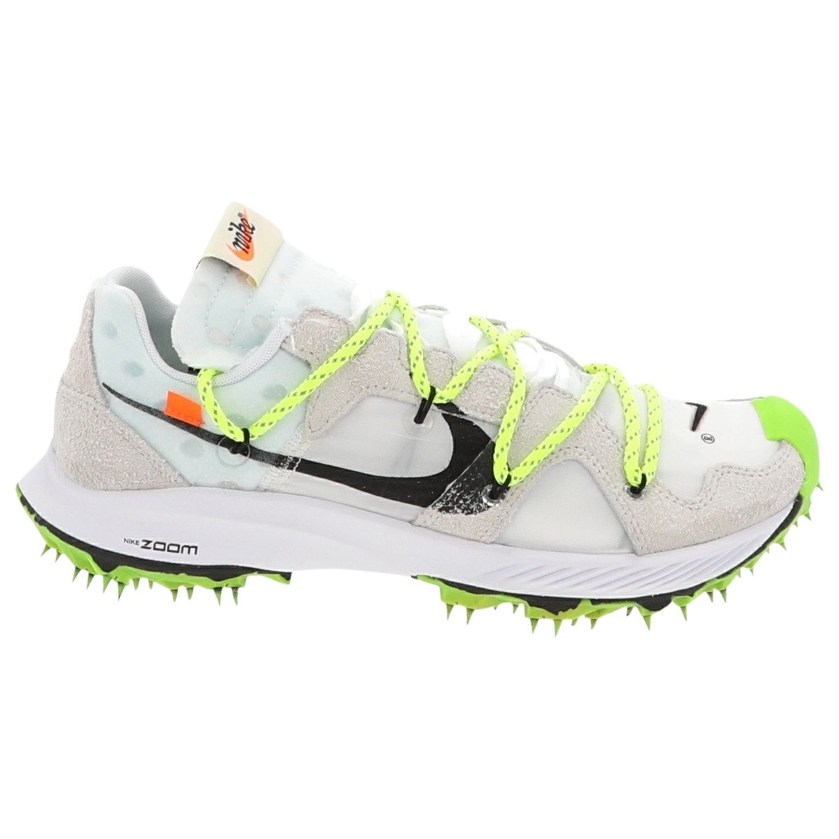 Nike X Off-white Zoom Terra Kiger 5 White Leather Trainers for Women 11.5 US