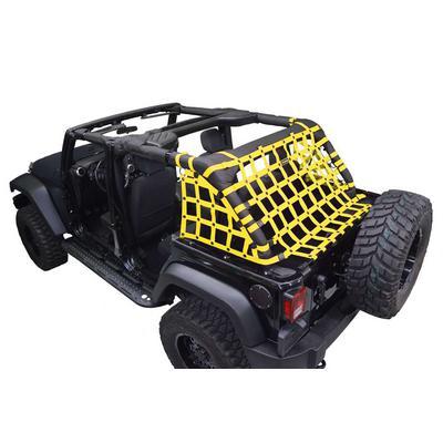 DirtyDog 4x4 Rear Upper Cargo Netting with Regular Sides, Yellow - D/DJ4NN07RCYL