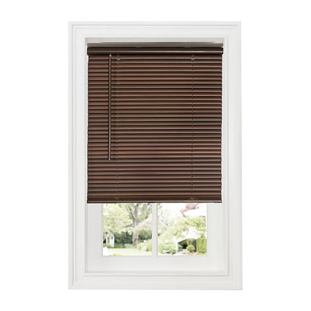 Cordless Deluxe Sundown GII 1in Horizontal Mini Blinds, One Size , Brown