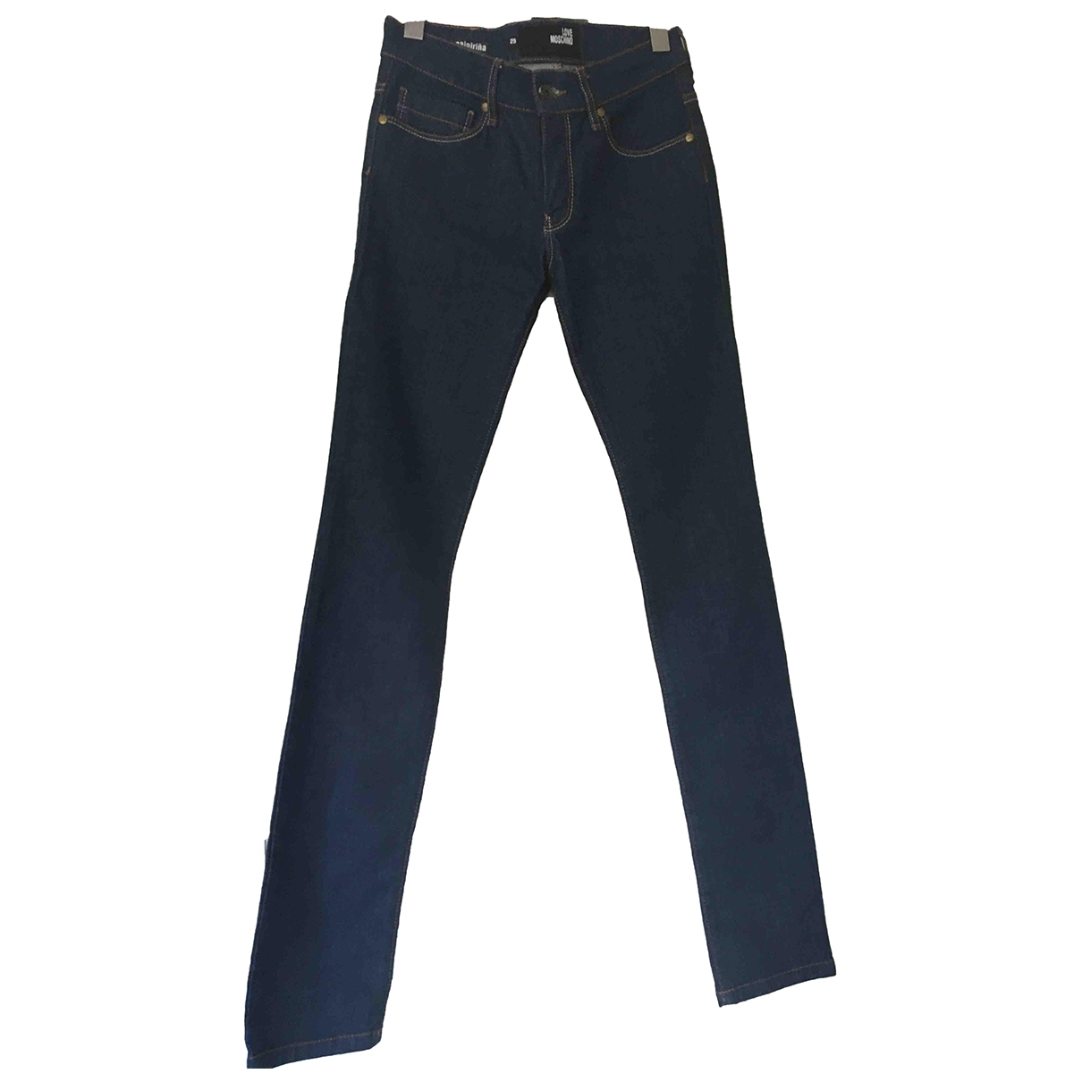 Moschino Love \N Blue Denim - Jeans Jeans for Women 34 FR