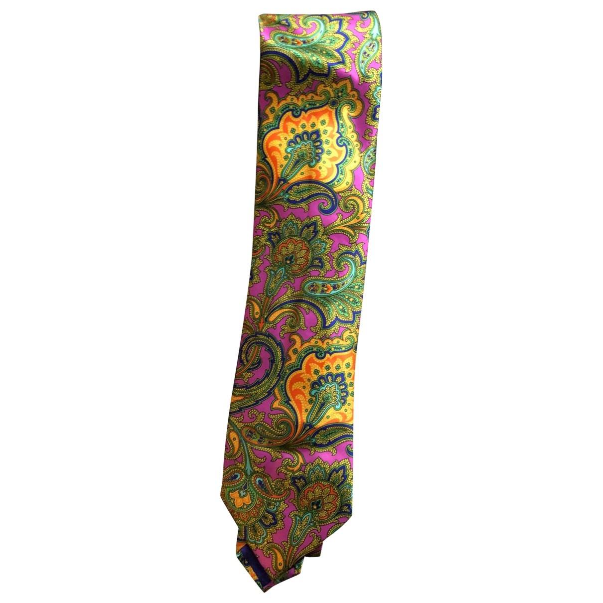Brioni \N Pink Silk Ties for Men \N