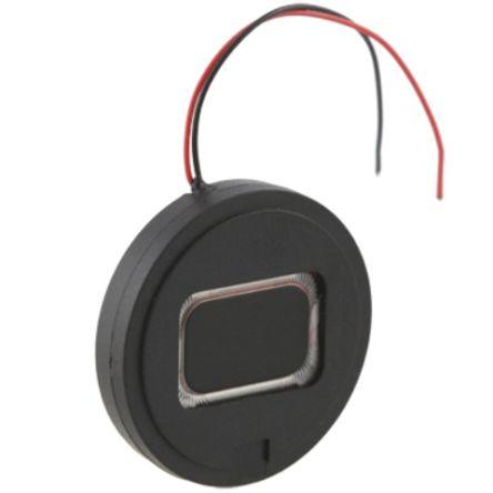 RS PRO 8Ω 0.8W Miniature Speaker 27mm Dia. , 50mm Lead Length, 27 Dia. x 4.9mm (117)