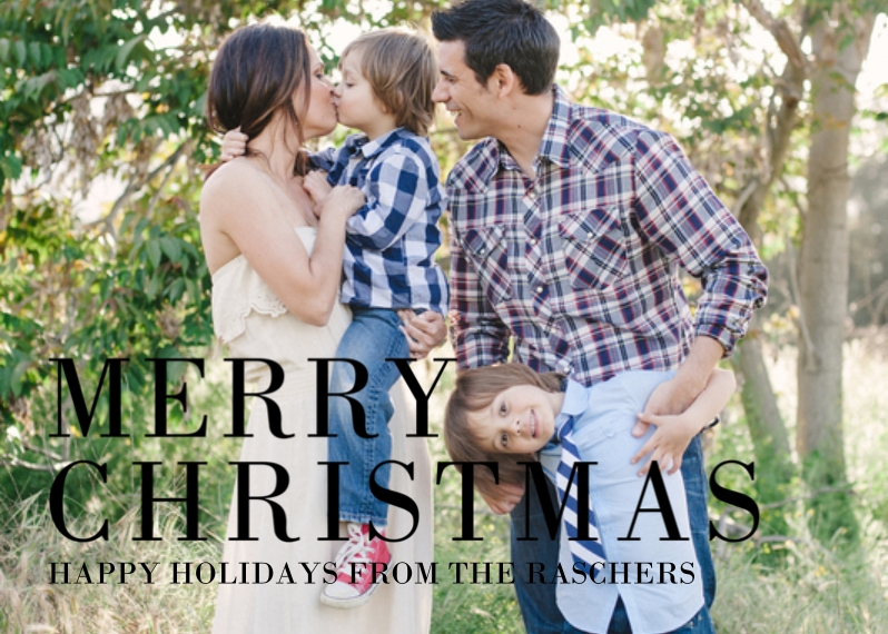 Christmas Photo Cards 5x7 Cards, Premium Cardstock 120lb with Elegant Corners, Card & Stationery -Christmas Simple Serif