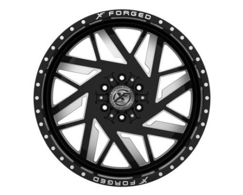 XF Off-Road XFX-306 Wheel 20x9 8x165.1|8x170 0mm Black Milled Window