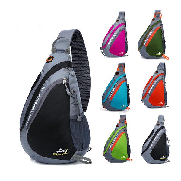 Men Nylon Light Waterproof Outdoor Climbing Chest Bag Shoulder Bag Crossbody Bags