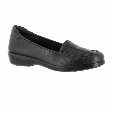 Easy Street Womens Genesis Slip-On Shoe, 8 Medium, Black