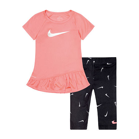 Nike Toddler Girls 2-pc. Legging Set, 3t , Black