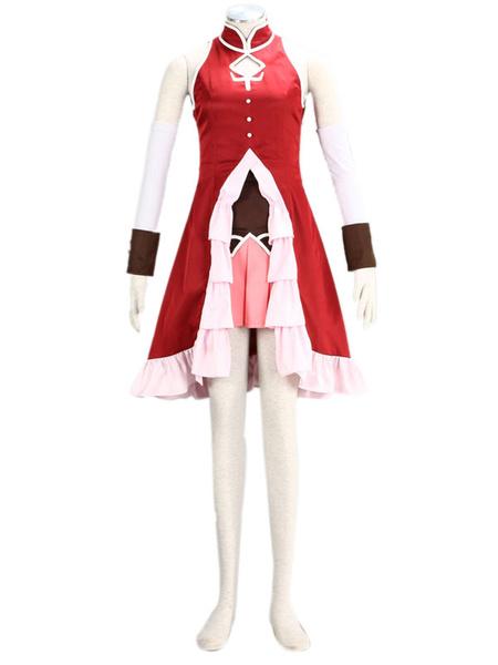 Milanoo Puella Magi Madoka Magica Sakura Kyouko Cosplay Costume Halloween