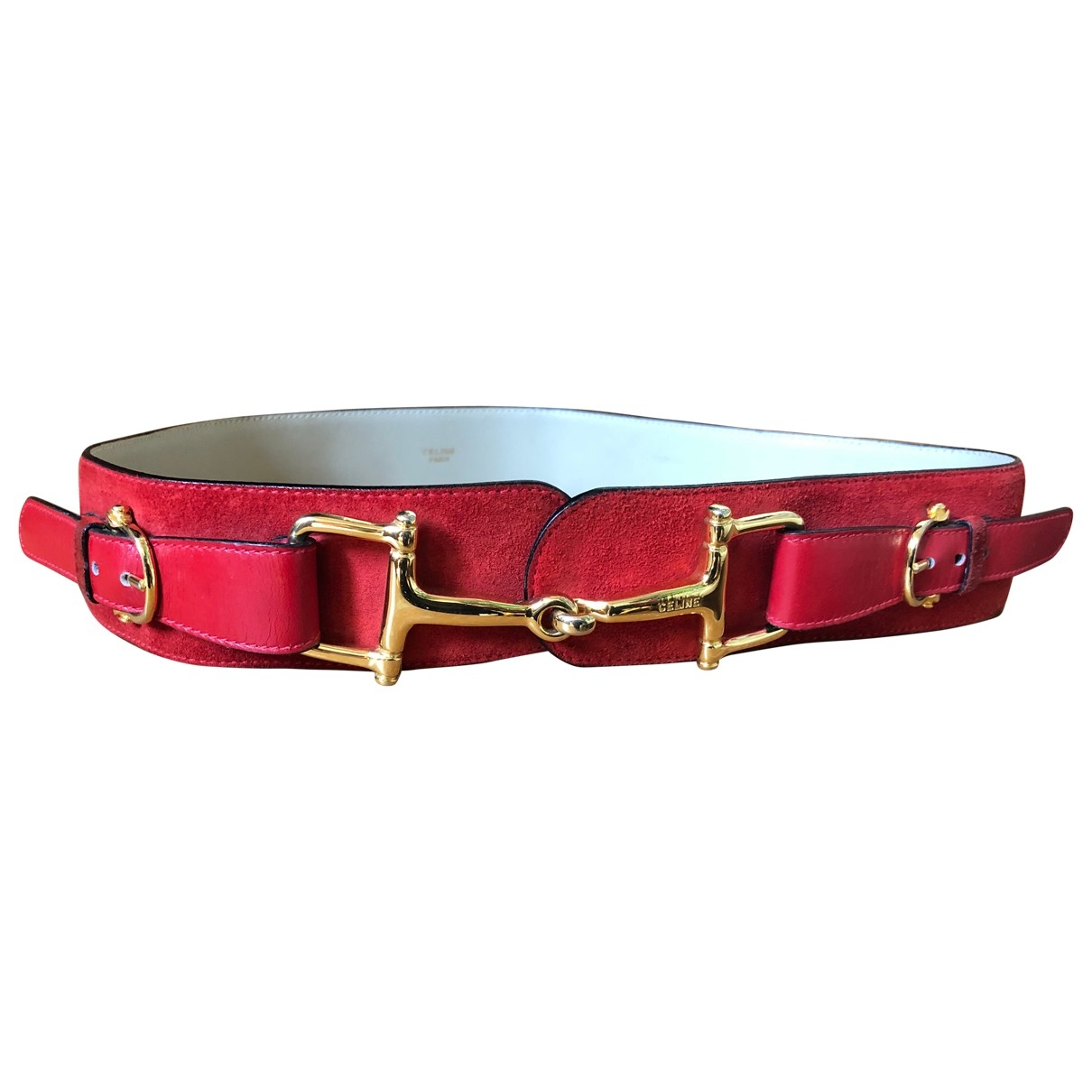 Celine \N Red Suede belt for Women 75 cm