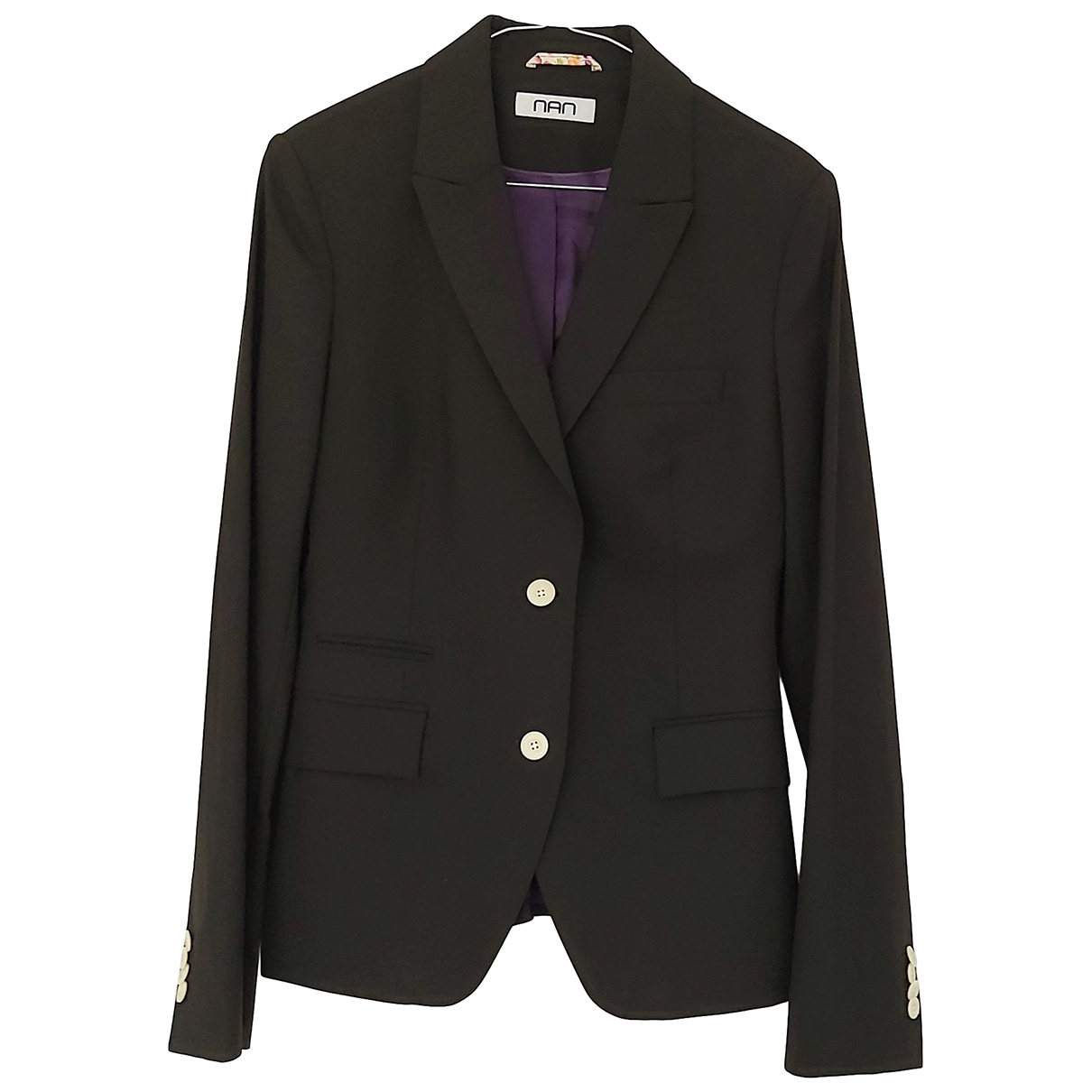 Non Signé / Unsigned \N Black Wool jacket for Women 40 FR