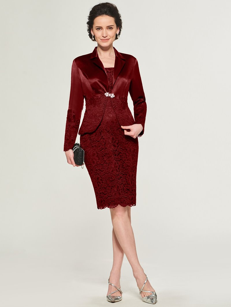 Ericdress Sheath Knee Length Mother of the Bride Dress with Jacket