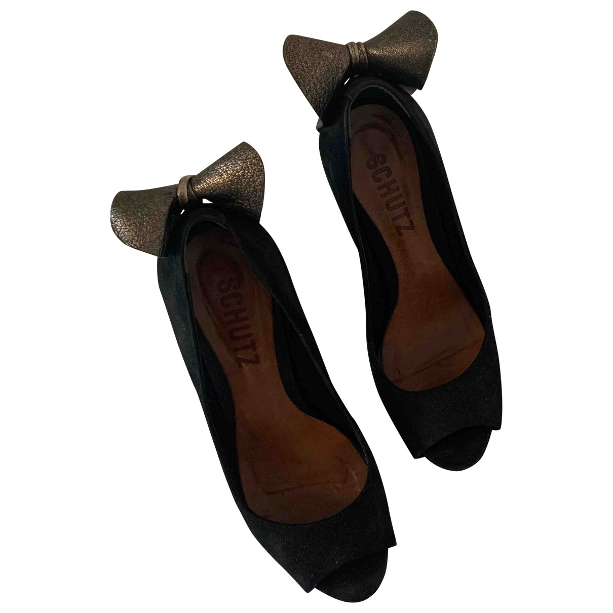 Schutz \N Black Suede Heels for Women 38 EU