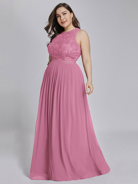 Milanoo Bridesmaid Dress A Line Floor Length Backless Lace Prom Dress Formal Wedding Party Gown