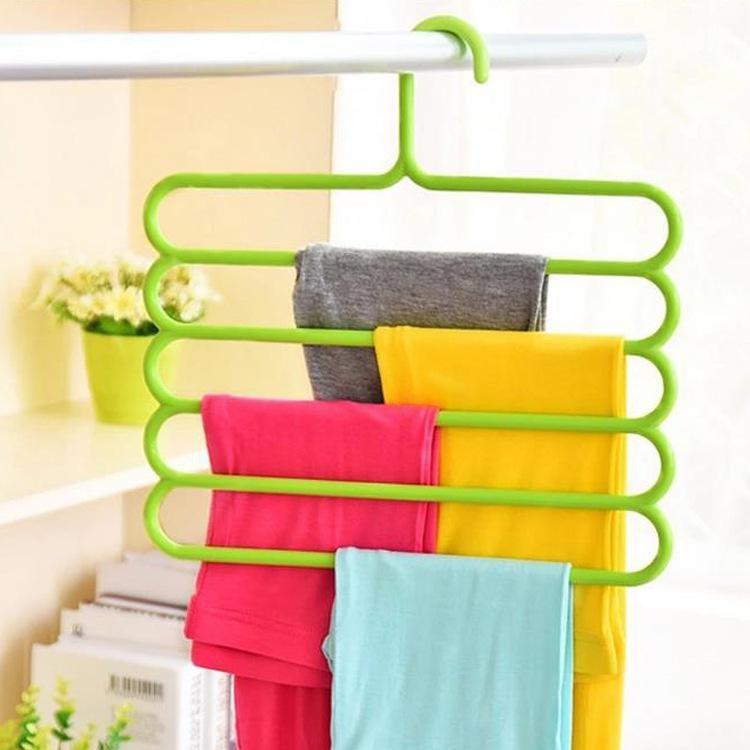 Multifunctional 5 Layer Hanger Anti Skid Rack