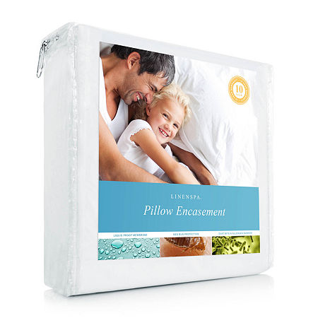 Linenspa Zippered Encasement Pillow Protector, One Size , White
