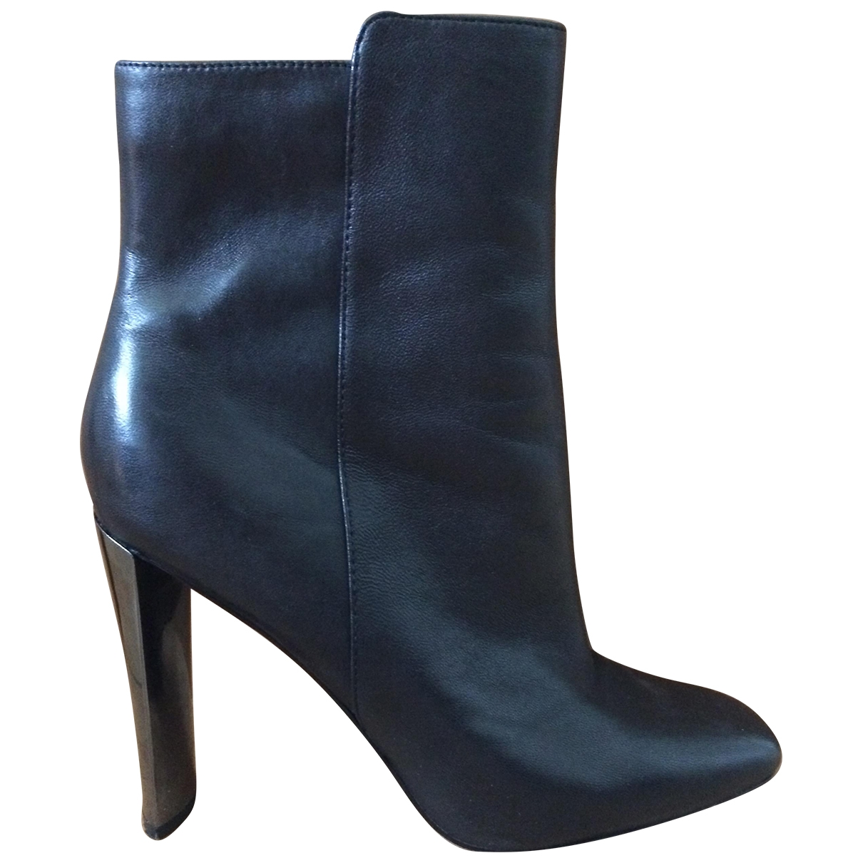 Guess \N Black Leather Ankle boots for Women 40 EU