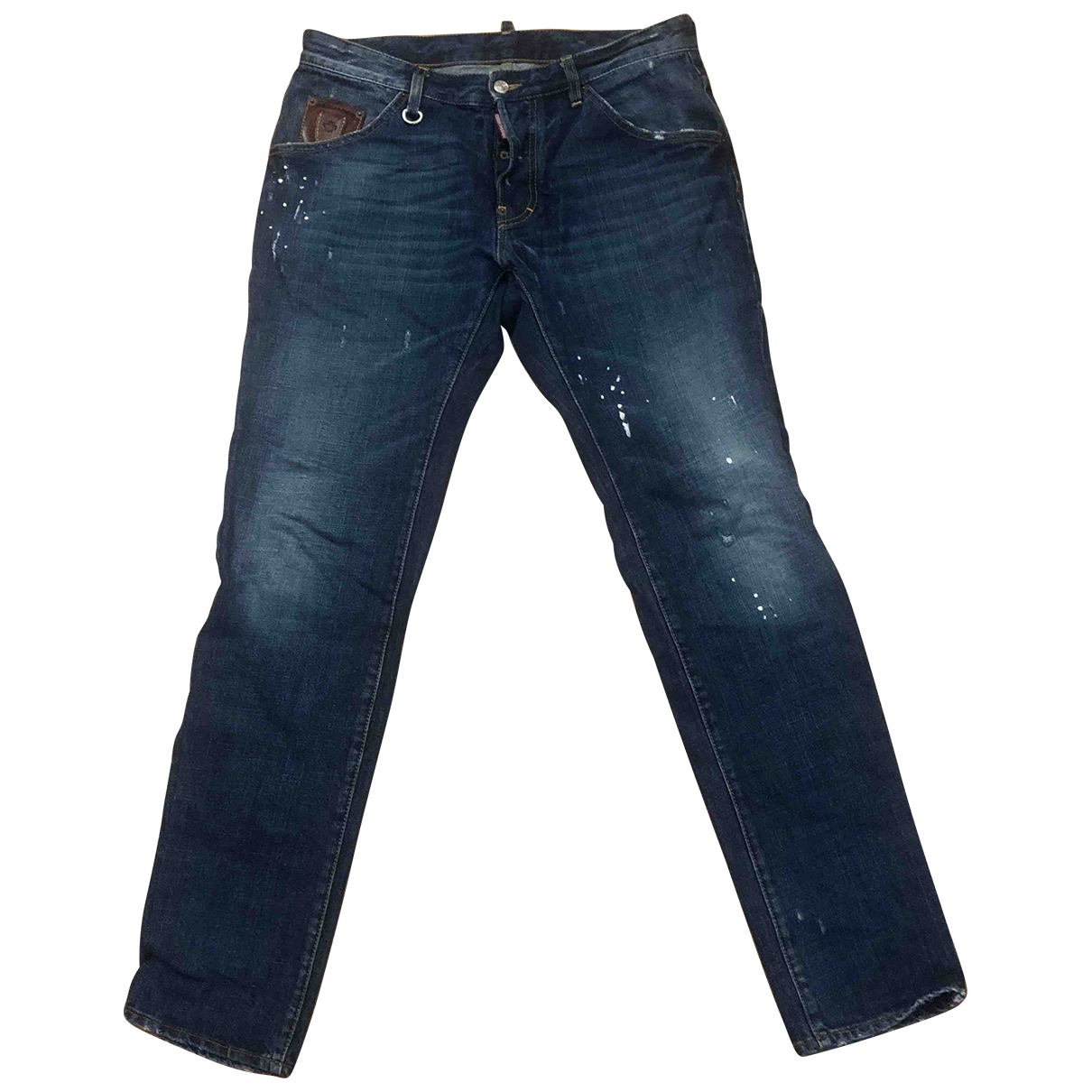 Dsquared2 \N Blue Cotton Jeans for Men 40 - 42 FR