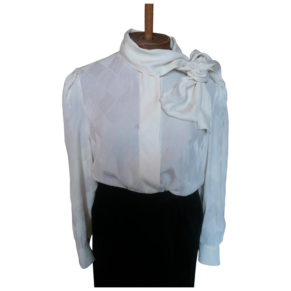 Louis Feraud \N Ecru Silk Leather jacket for Women 42 FR