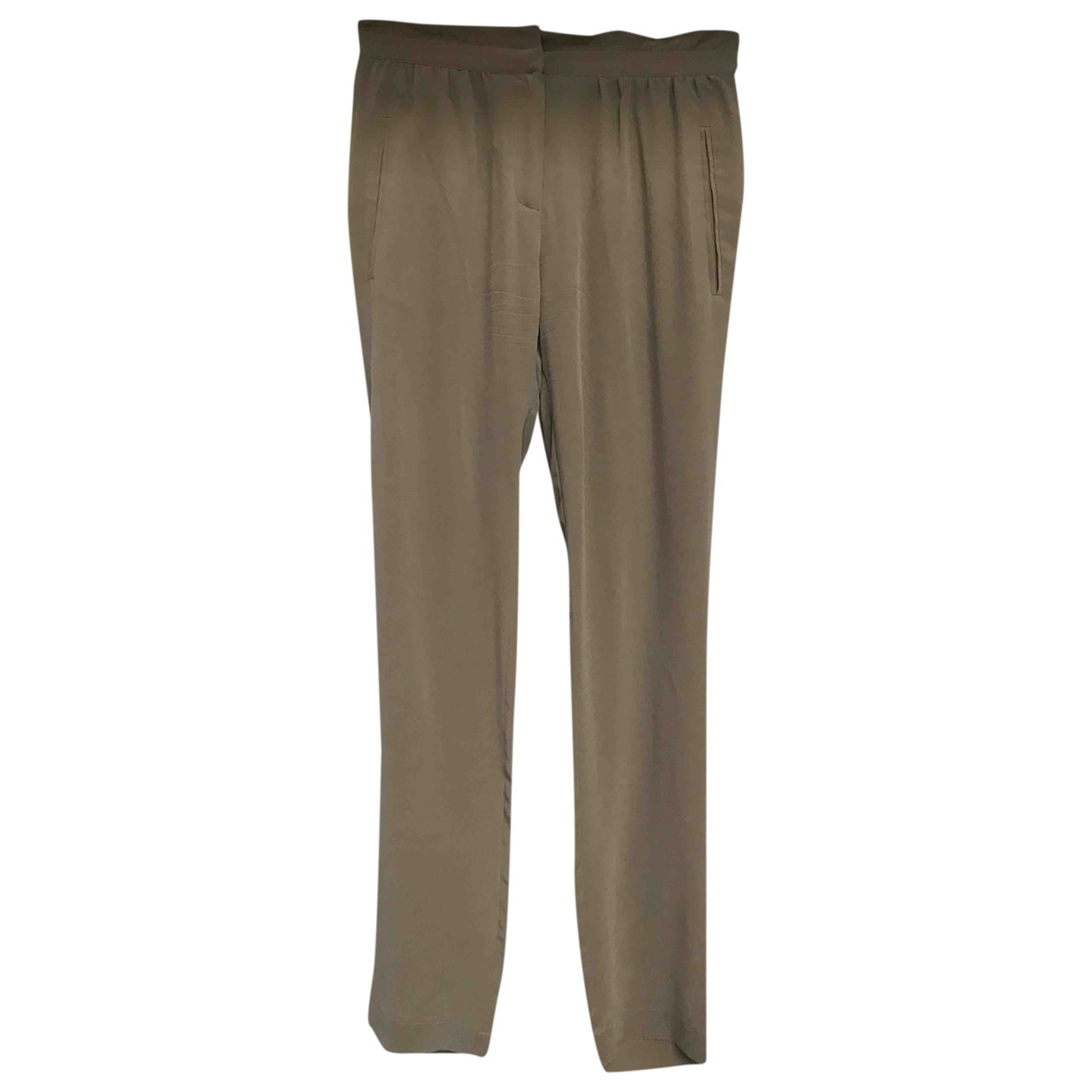Comptoir Des Cotonniers \N Beige Silk Trousers for Women 34 FR