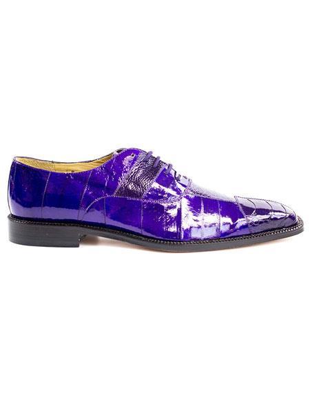 Men's Belvedere Lace Up Purple Fashionable Dress Shoes