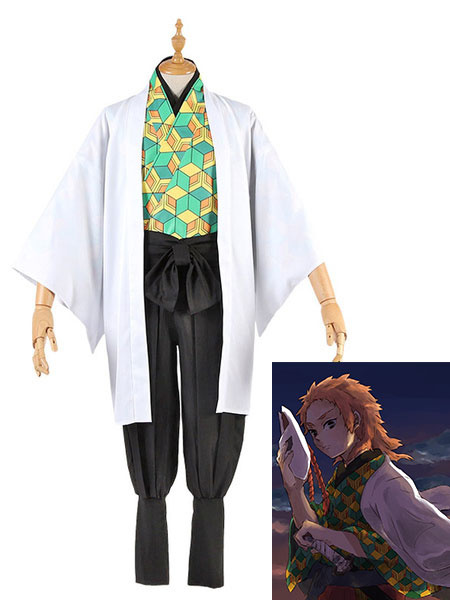 Milanoo Sabito Cosplay Costume Demon Slayer: Kimetsu No Yaiba Cosplay Set