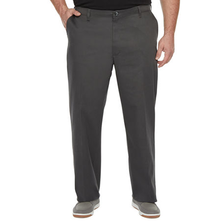 Lee Total Freedom Men's Relaxed Fit Khaki Pants - Big and Tall, 44 30, Gray