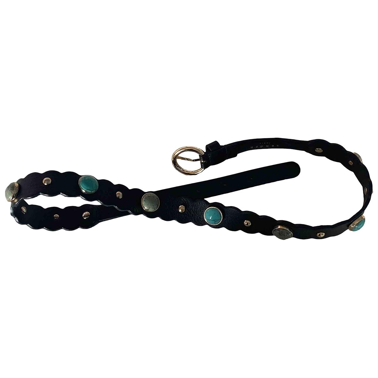 Sandro \N Multicolour Leather belt for Women 70 cm