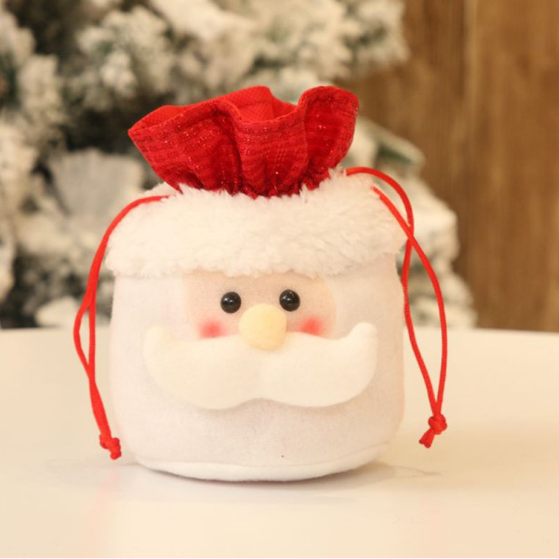 Pull String A variety of Styles Soft Flannelette Christmas Bag