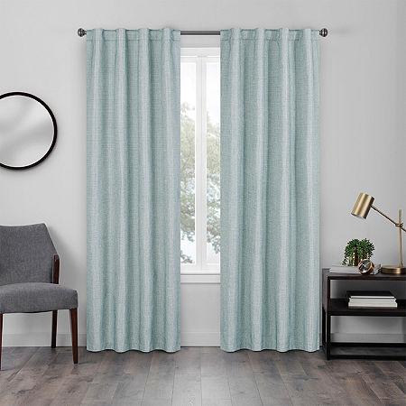 Eclipse Walken Blackout Back-Tab Single Curtain Panel, One Size , Blue