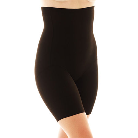 Naomi And Nicole Plus Unbelievable Comfort Wonderful Edge Comfortable Firm Firm Control Thigh Slimmers - 7779, 5x , Black