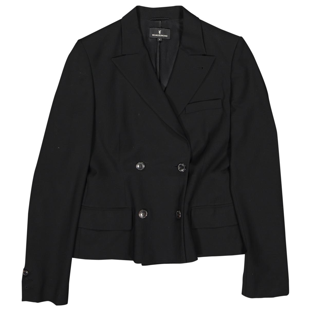 Wunderkind \N Black Wool jacket for Women 8 US