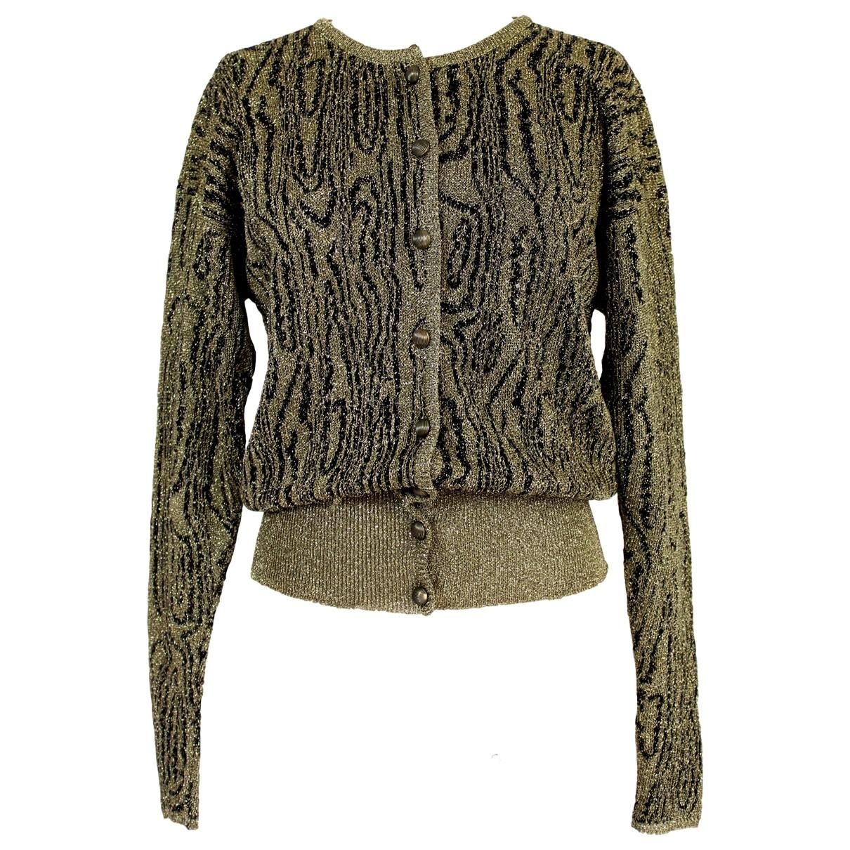 Krizia \N Gold Wool Knitwear for Women 46 IT