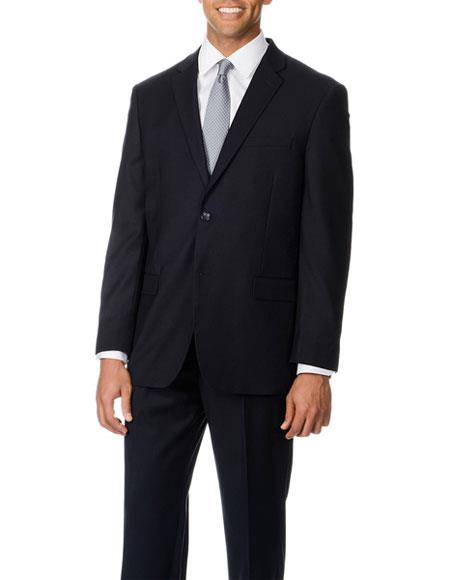Caravelli Men's Double Vent Single Breasted 2 Button Navy Suit