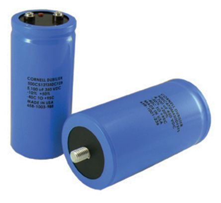 Cornell-Dubilier 3300μF Electrolytic Capacitor 450V dc, Screw Mount - 550C332T450DE2B