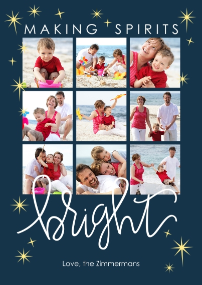 Holiday Photo Cards Flat Glossy Photo Paper Cards with Envelopes, 5x7, Card & Stationery -Spirits Bright