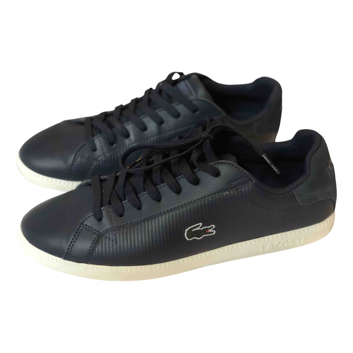 Lacoste \N Navy Leather Trainers for Men 44 EU
