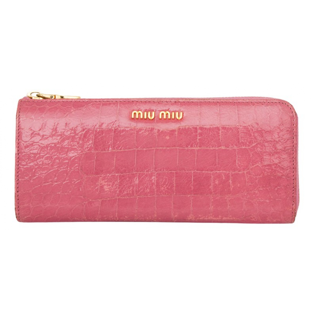 Miu Miu \N Pink Patent leather wallet for Women \N