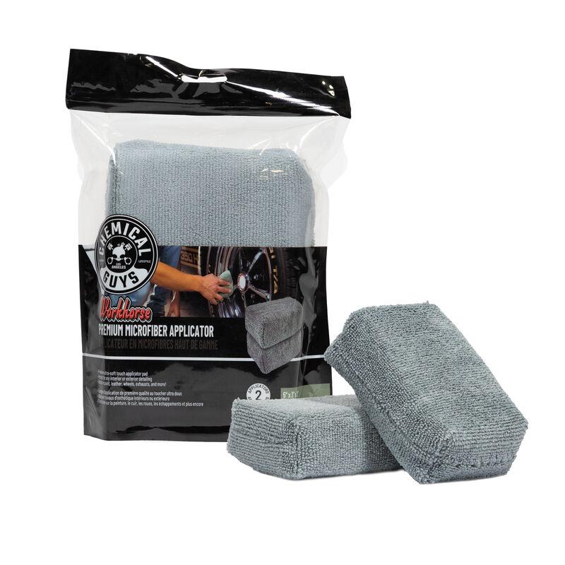 Workhorse Premium Car Microfiber Applicator, Gray - Chemical Guys
