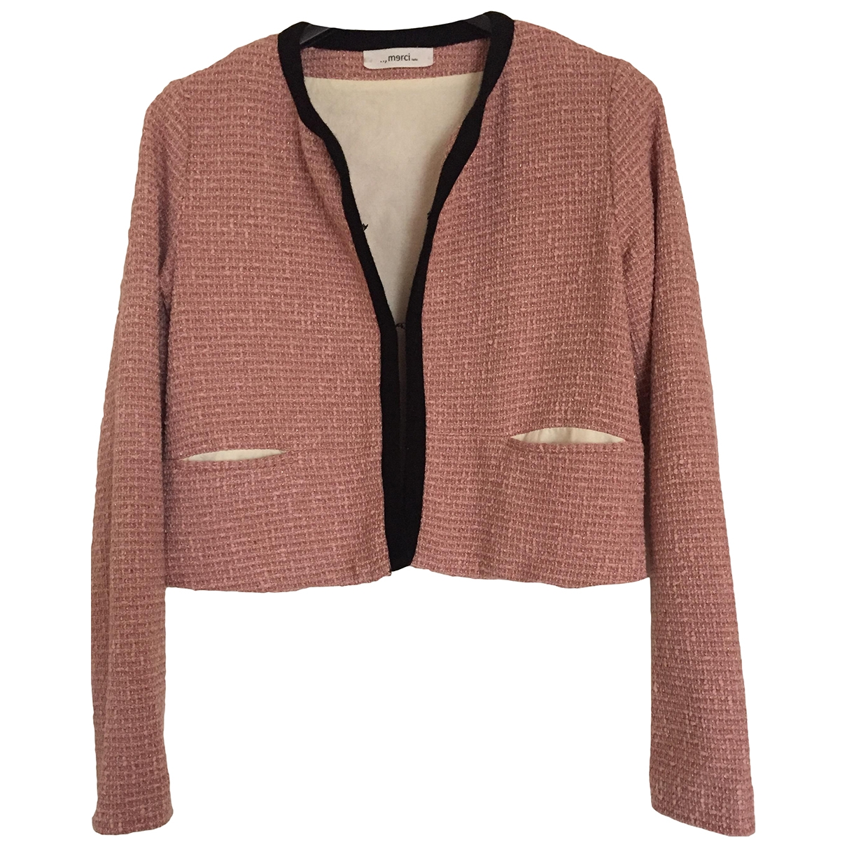 Merci \N Pink Cotton jacket for Women 40 IT
